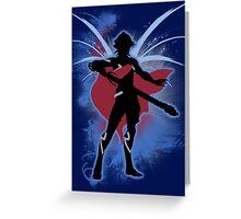 Super Smash Bros. Blue Male Corrin Silhouette Greeting Card