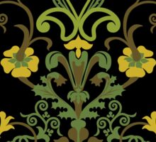 Flowers and Vines - Green Sticker