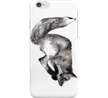 Diving, playful fox hand drawn and illustrated with pen and ink. iPhone Case/Skin