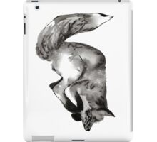 Diving, playful fox hand drawn and illustrated with pen and ink. iPad Case/Skin