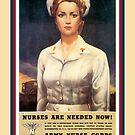 Vintage USA Army Nurse Corps by SpiceTree