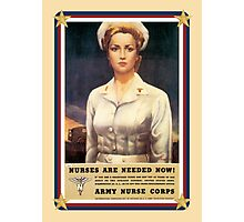 Vintage USA Army Nurse Corps Photographic Print