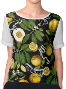 Lemon Tree - Black Chiffon Top