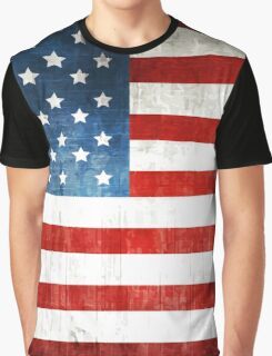 Grunge American flag Graphic T-Shirt