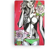 Wondering Among Roses Canvas Print