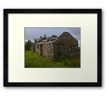 Stonework of a ruin Framed Print