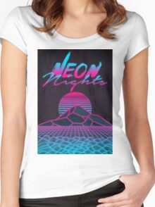 Neon Nights Women's Fitted Scoop T-Shirt