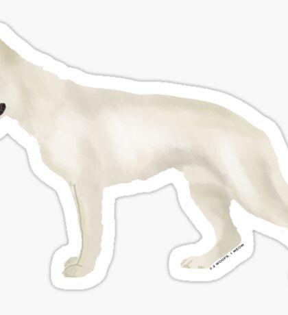 German Shepherd: White Sticker