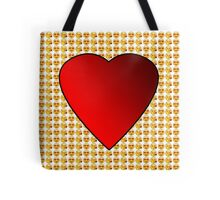 Emoji Hearts And Kisses (Big Heart) Tote Bag