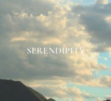 Clouds and Mountains - SERENDIPITY Sticker