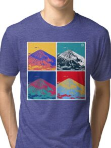 Mount Fuji Pop Art Tri-blend T-Shirt