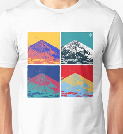 Mount Fuji Pop Art Unisex T-Shirt