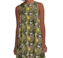 Native Purple Vine A-Line Dress