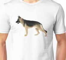 German Shepherd: Tan & Black Unisex T-Shirt