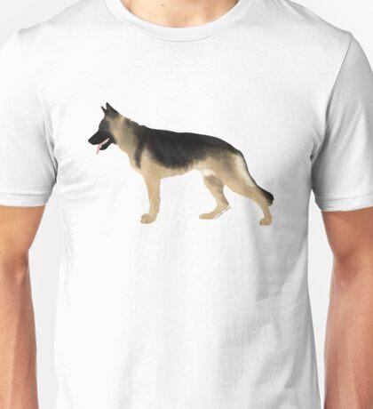 German Shepherd: Tan & Black Unisex T-Shirt