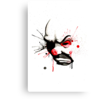 Clown Bank Robber Splatter Canvas Print