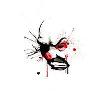 Clown Bank Robber Splatter Photographic Print