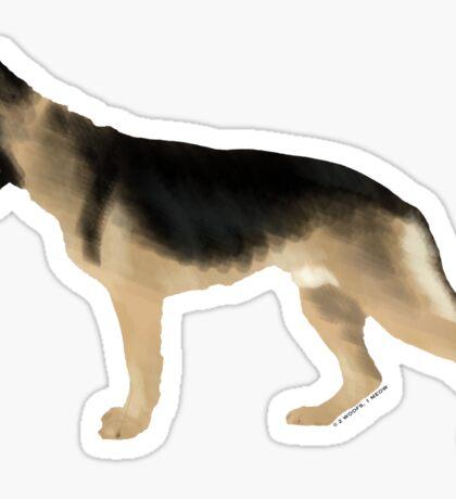 German Shepherd: Tan & Black Sticker