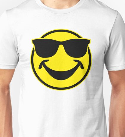 Cool funny Smiley with sunglasses Unisex T-Shirt