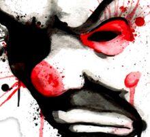 Clown Bank Robber Splatter Sticker
