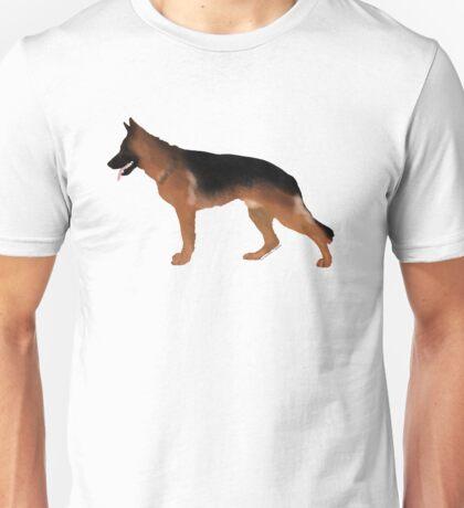 German Shepherd: Red & Black Unisex T-Shirt