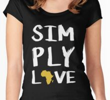 Africa Love Women's Fitted Scoop T-Shirt