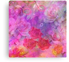 Dream roses in pastels Canvas Print