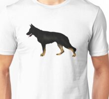 German Shepherd: Bicolor Unisex T-Shirt