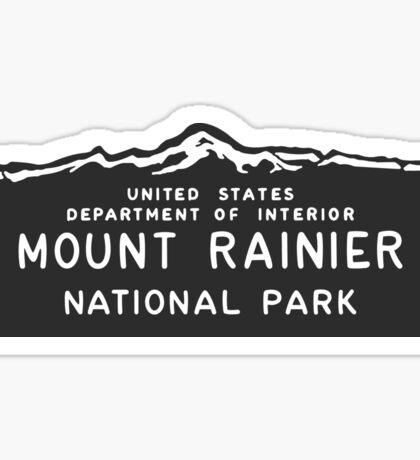 Mount Rainier National Park Sign, Washington, USA Sticker