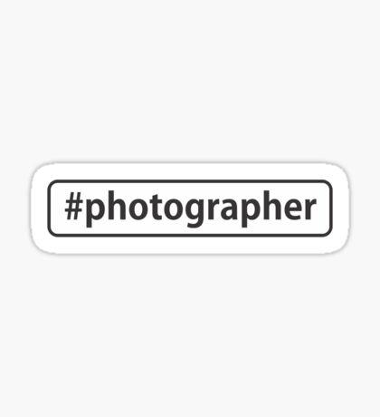 #photographer Sticker