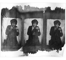 Pete Doherty Cyanotype multiple image print Poster