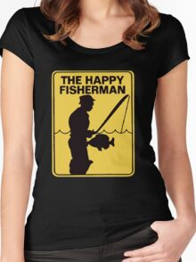 Funny fishing Women's Fitted Scoop T-Shirt