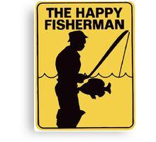Funny fishing Canvas Print