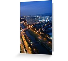 Tancheon River After Dark Greeting Card