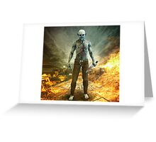 Crazy Scary Monster Apocalyptic Scene Greeting Card