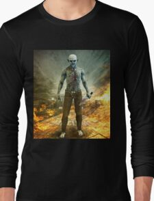 Crazy Scary Monster Apocalyptic Scene Long Sleeve T-Shirt