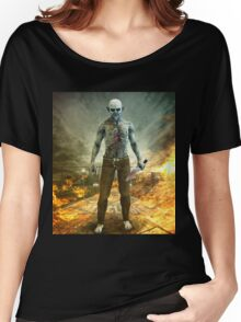 Crazy Scary Monster Apocalyptic Scene Women's Relaxed Fit T-Shirt