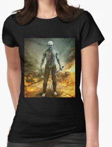Crazy Scary Monster Apocalyptic Scene Womens Fitted T-Shirt
