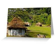Local huts Greeting Card