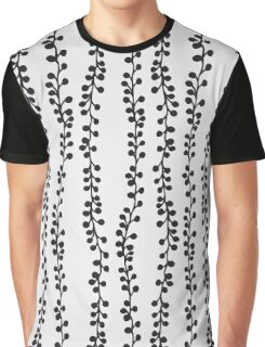 Black hand drawn branches on white - pattern Graphic T-Shirt