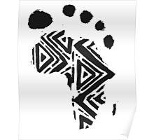 Africa Footprint Poster