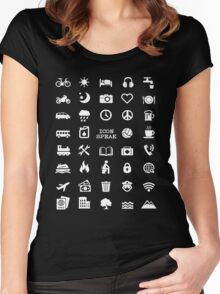 Travel Icon Speak Tshirt Women's Fitted Scoop T-Shirt