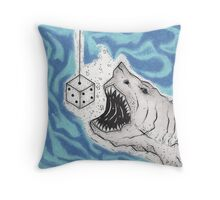 Dice With Death Throw Pillow