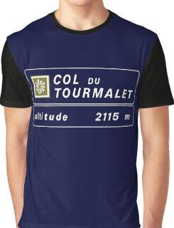 Col du Tourmalet, Road Sign, France Graphic T-Shirt