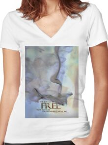 The Awareness STICKER © Vicki Ferrari Women's Fitted V-Neck T-Shirt