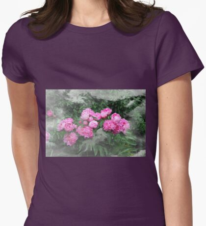 Peony behind Mist Womens Fitted T-Shirt
