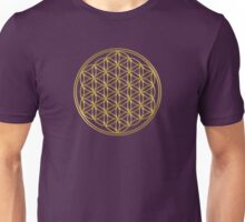 Flower of Life / Blume des Lebens - gold Unisex T-Shirt