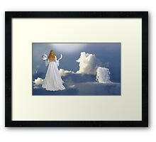 grant me a wish and I will offer you two moons... Framed Print