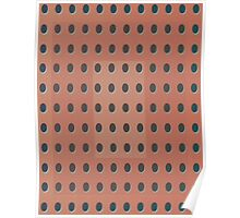 Pattern 031 Dots, Inverted Peach Black Poster