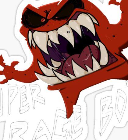 Super Rage Boy Sticker